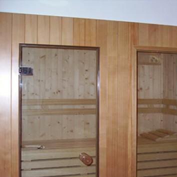 finestra panoramica sauna