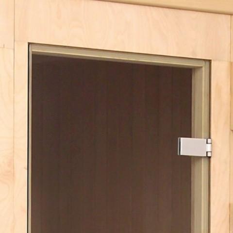 porta panoramica per sauna
