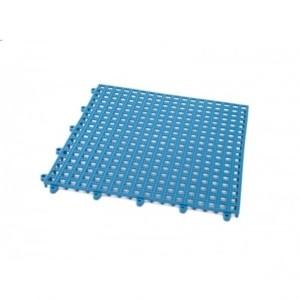 mattonella forata incastro pvc blu
