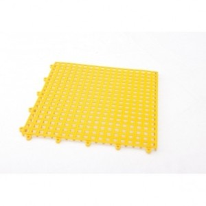 mattonella forata incastro pvc gialla