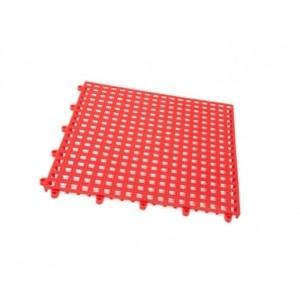 mattonella forata incastro pvc rossa