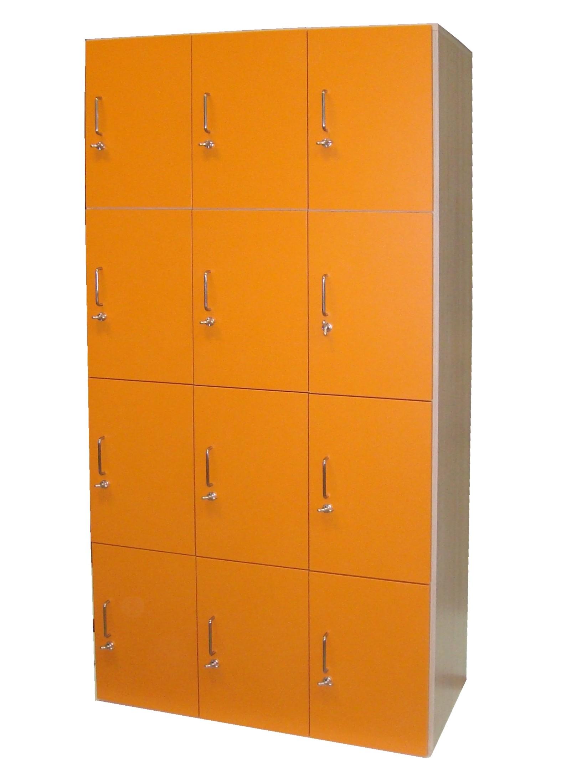 armadio portavalori 12 posti arancione