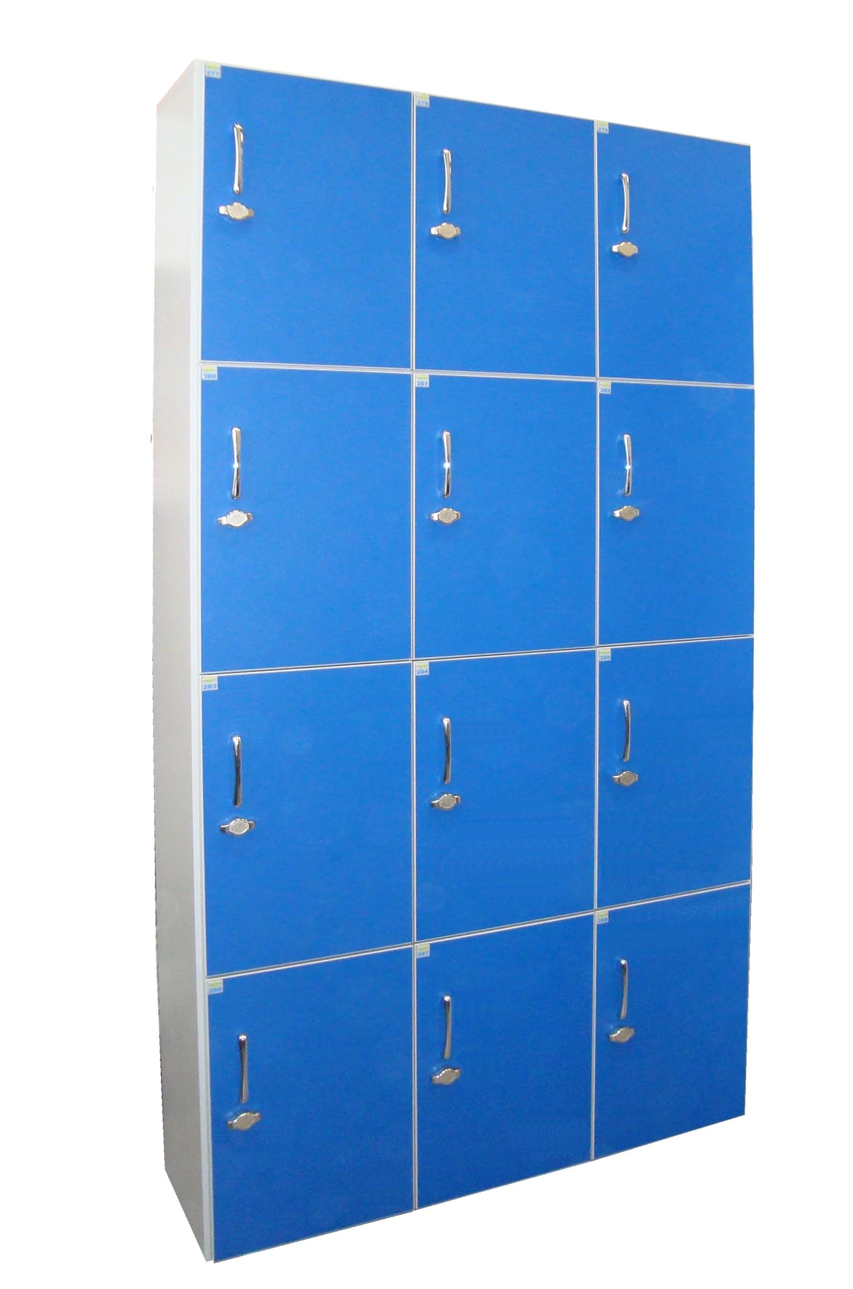 armadio portavalori 12 posti blu